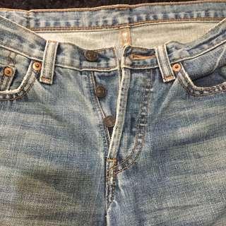 Frayed Hem Jeans