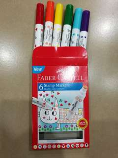 6 stamp markers Faber castell