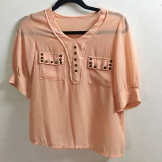 Three fourth chiffon blouse