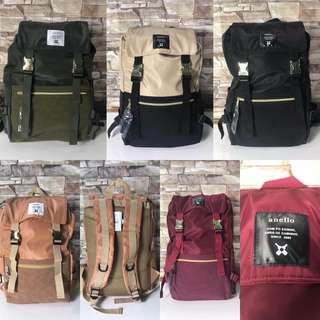 For sale authentic quality Anello gold buckle backpack
