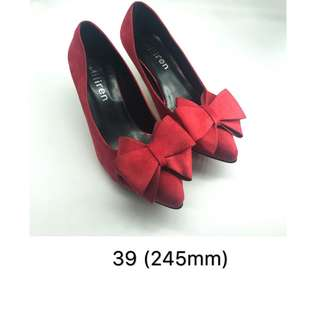Clear stock !last pair !red ribbon shoe