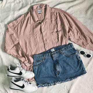 Oversized blush pink long sleeves