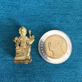 Lp Leua (Lp Ler) Phra Phrom Roop (4 Face Deva) Amulet Be2558