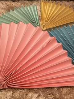 🚚 Hard Paper Fan (Decoration)