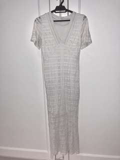 River Island White Lace Maxi Dress