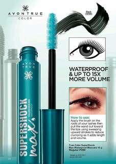 AVON True Color SuperShock Max Waterproof Mascara (10g)