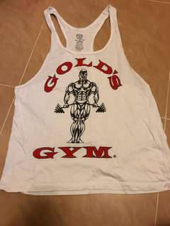 ( NO BARGAINING , ENGLISH ONLY ) Gold's Gym Vest Top