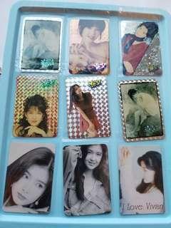 77張 周慧敏 Vivian yes卡 閃卡 90年代 歌手 yes card