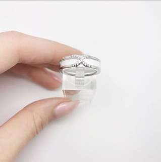 Elegant White ceramic ring!🌟s925