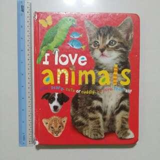 Board Book I Love Animals