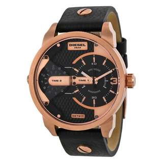 MINI DADDY BLACK DUAL TIME DIAL BLACK ION-PLATED MEN'S WATCH DZ7317