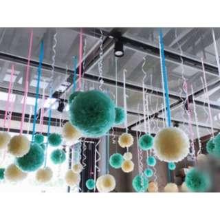 Tiffany Pom Pom Tissue Paper decoration