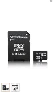 USA Wintec FileMate micro SD card 64GB