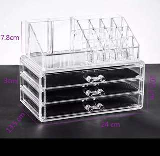 [instock] acrylic makeup box