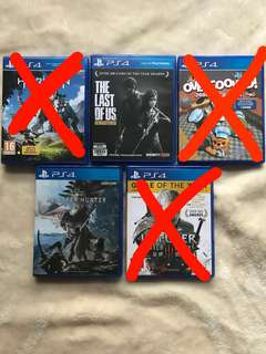 Pre-owned PS4 games