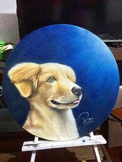 """""""Schauffer"""" Golden Retriever Oil Painting"""