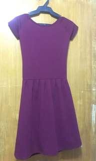 Open Back Maroon Dress