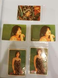 74張 周慧敏 Vivian yes卡 閃卡 90年代 歌手 yes card