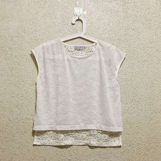 Just G Back Lace Top