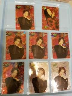 46張 周慧敏 Vivian yes卡 閃卡 90年代 歌手 yes card
