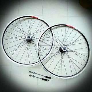 New 26 inch MTB Bicycle Alexrims Novatec Wheelset Wheel Rim