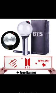 BTS Lightstick (with Free banner)