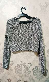 H&M cropped fluffy top