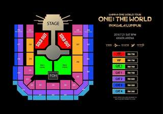 Wanna one world tour in KL