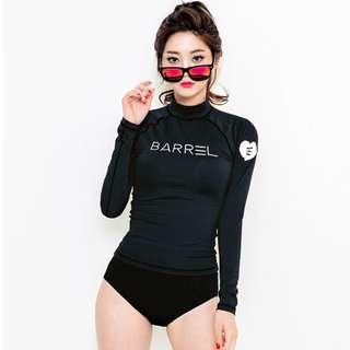 [PRE-ORDER] Women Rash Guard Split Type Swimsuit Long Sleeve Plus Size Bikini