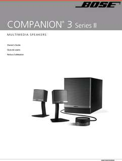 Bose companion 3( not working set)