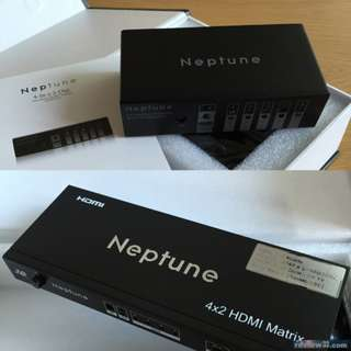 【COMECTS.NEPTUNE】HDMI 4-in x 2-out Matrix 分線器