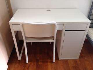 IKEA MICKE study desk set with MELLTORP chair