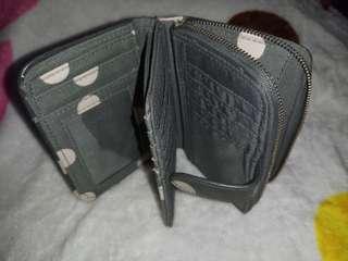 Button Spot Folded Wallet