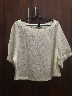 H&M Lace Blouse (can fit M -XL frame)