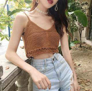 (PO) Knitted Crop Top
