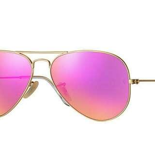 Ray Ban Aviator Flash Lens Pink