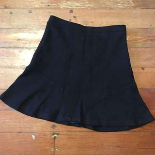 Ojay Black Woollen skirt