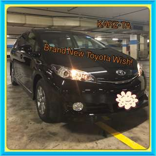 TOYOTA WISH 1.8 CVT! 2018! Promo Now! Petrol Saver Proven! 18% off petrol Card! Lowest Price! Can Drive For Grab/RydeX/Go-Jek/Jugnoo! Flexible Rental Scheme! Personal User! Call Now!