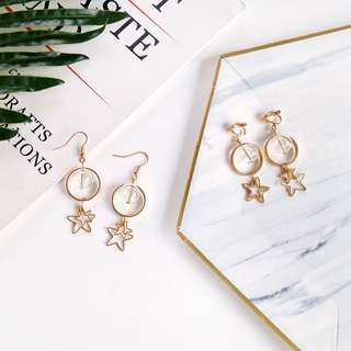 Korean Starry Transparent Bubble Dangle Earrings