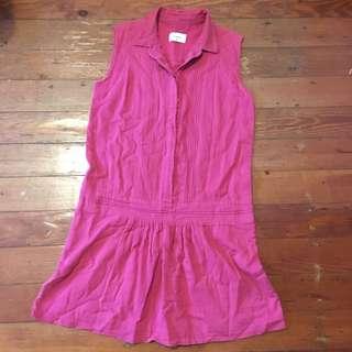 Weathered pink cotton dress