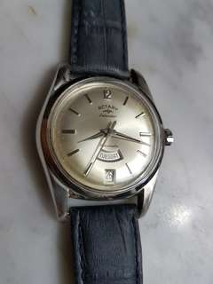 Vintage Rotary Calendar Rotamatic Men Watch.
