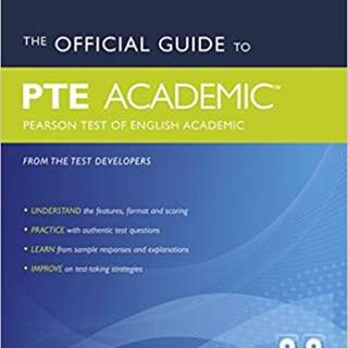 PTE Academic (Pearson Test of English Academic) x 2 Guide, Practice Textbooks