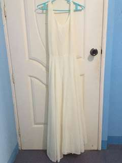 Cream long dress repriced