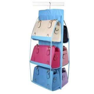 6 Pocket Hanging Bag Organizer