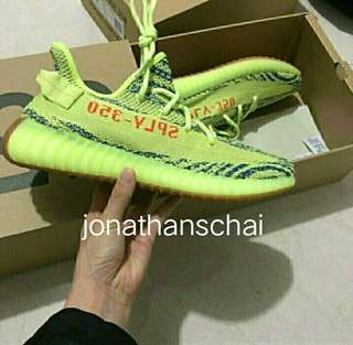 [200% Real] Yeezy Boost 350 V2 Frozen Yellow