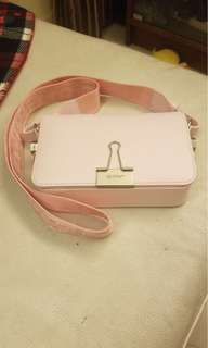 light pink mini flap bag