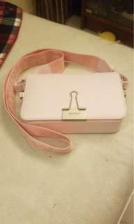 light pink mini flap bag