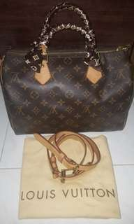 LV Speedy B 30 Monogram with Strap
