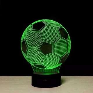 Lampu Tidur LED 3D Transparan Bola