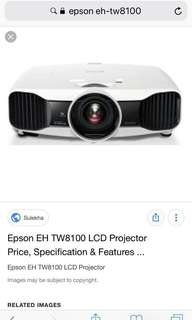 Epson EH-TW8100 LCD projector - Drop Price Again Free BlueRay Player